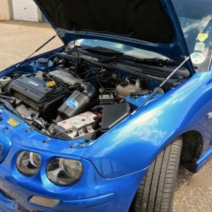 "ENGINE BAY  - (2015) - JUST FITTED ""DARK ICE DESIGNS"" BONNET STRUTS"